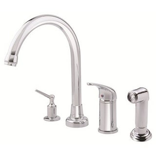 Danze Single-handle Kit Melrose Hi-rise Spout Lever Handle with Spray with Dispenser Polished Chrome Faucet