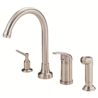 Danze Single-handle Kit Melrose Hi-rise Spout Lever Handle with Spray with Dispenser Stainless Steel Faucet