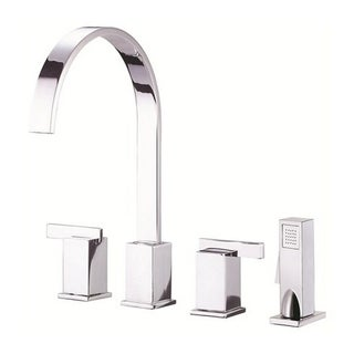 Danze 2-handle Kit Sirius Lever Handle with Spray Polished Chrome Faucet