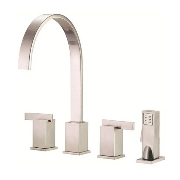 Danze 2-handle Kit Sirius Lever Handle with Spray Stainless Steel Faucet