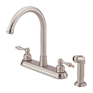 Danze 2-handle Kit Sheridan Hi-rise Spout Lever Handle with Spray Stainless Steel Faucet