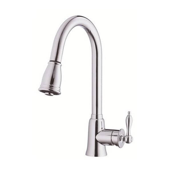 Danze Single-handle Kit Prince with Pull-down Spout with Optional Deck Plate Polished Chrome Faucet