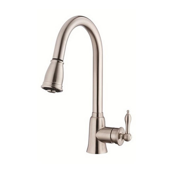 Danze Single-handle Kit Prince with Pull-down Spout with Optional Deck Plate Stainless Steel Faucet