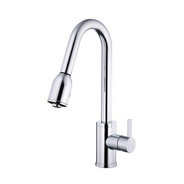 Danze Single-handle Kit Amalfi with Pull-down Spout with Optional Deck Plate Polished Chrome Faucet