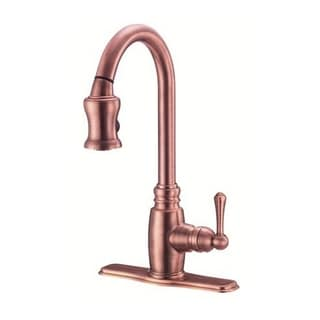 Danze Single-handle Kit Opulence Pull-down Lever Handle Antique Copper Faucet