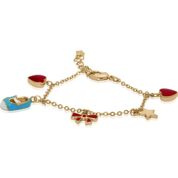 Junior Jewels Enamel Shoe, Star, Bow and Hearts Bracelet