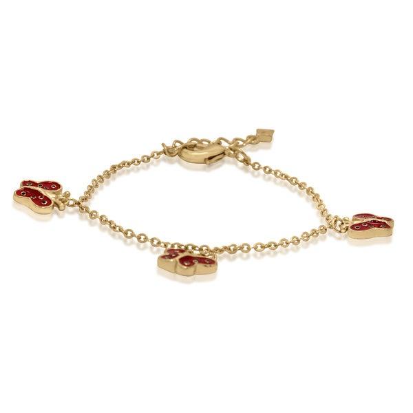 Gioelli Junior Jewels Gold Enamel Butterflies Bracelet