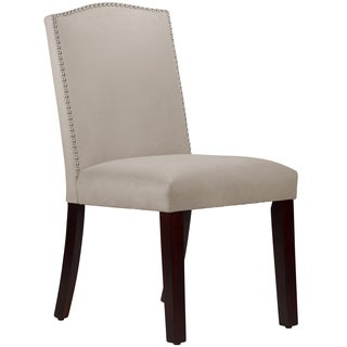 Made To Order Nail Button Arched Grey Dining Chair
