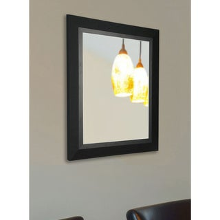 American Made Rayne Charming Matte Black Wall Mirror