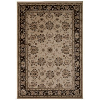 Rug Squared Charlotte Ivory/ Grey Rug (5'3 x 7'4)