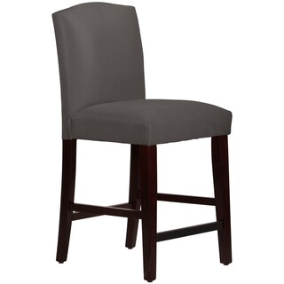 Skyline Furniture Arched Counter Stool in Micro-Suede Charcoal