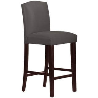 Skyline Furniture Arched Barstool in Micro-Suede Charcoal
