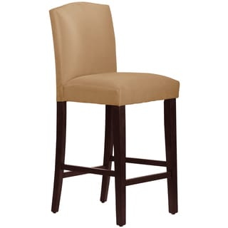 Made to Order Cream Arched Upholstered Bar Stool