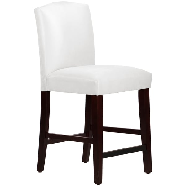 Skyline Furniture Arched Counter Stool In Micro Suede