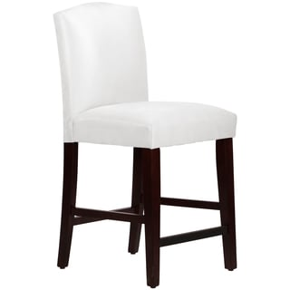 Made to Order White Arched Counter Stool