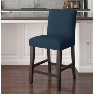 Skyline Furniture Uptown Counter Stool in Linen Navy