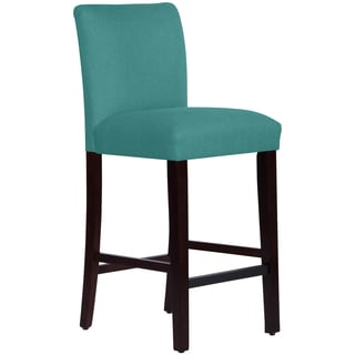 Portfolio orion caribbean blue linen upholstered 23 inch bar stool 14998777 - Teal blue bar stools ...