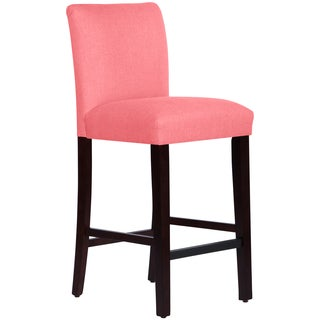 Skyline Furniture Uptown Barstool in Linen Coral