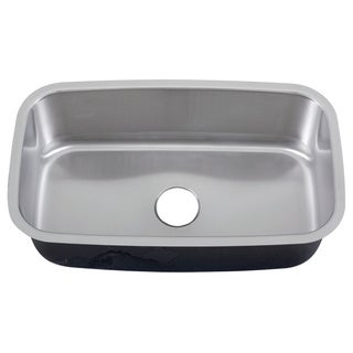 Phoenix 31.5-inch Stainless Steel 18 gauge Undermount Single Bowl Kitchen Sink