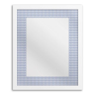 Gallery Direct Aqua Blue Chevron Mirror Art