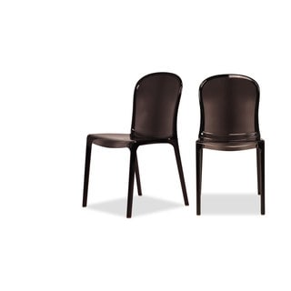 Midcentury Design Store Black Acrylic Quinn Chair (Set of 2)