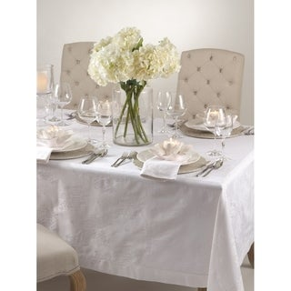 Rose Design Damask Tablecloth