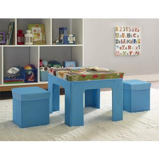 Cosco Folding Owl Pattern Kids Table/ Ottoman Set