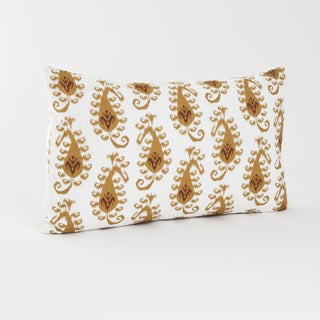 Ikat Gold Design Decorative Throw Pillow