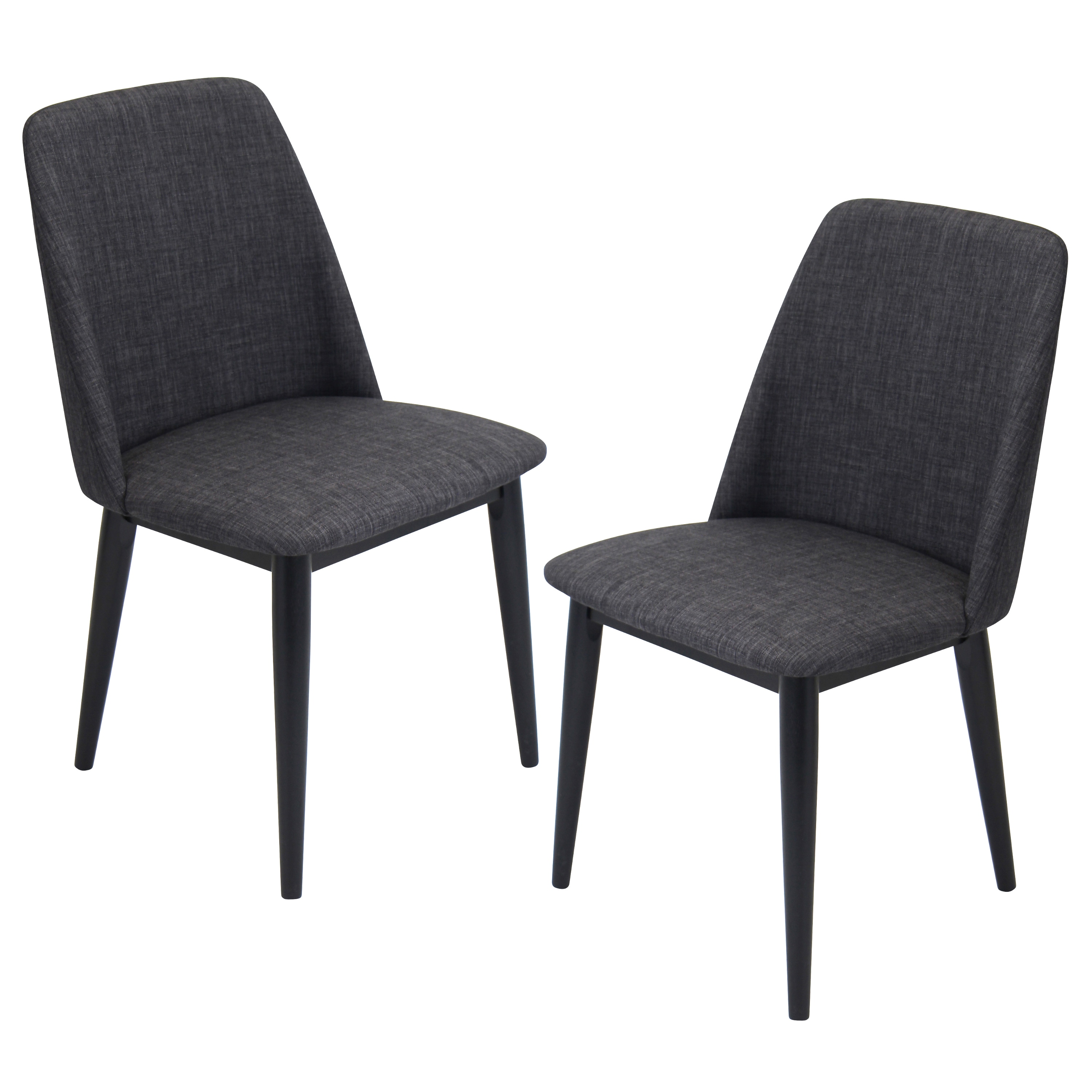 Lumisource Tintori Fabric Upholstered Dining Chairs (Set of 2)