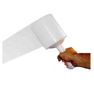 Cast Narrow Banding Stretch Wrap Film 700 Feet Long x 2 Inches Wide, 120 Ga (10 Cases, 240 Rolls)