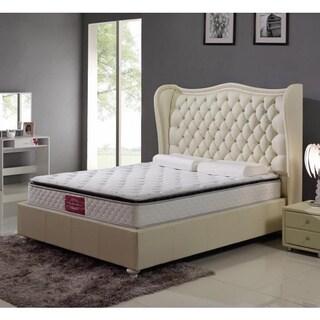 Queen Cream Platform Bed