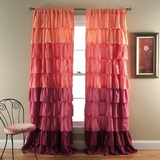 Lush Decor Ombre Ruffle Curtain Panel