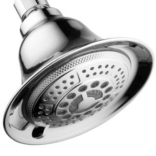 DreamSpa All Chrome LED Shower Head with 3-color-Changing Water Temperature Sensor