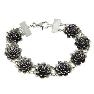 Sterling Silver 'Purity' Amethyst Bracelet (Indonesia)