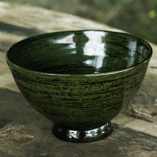 Handcrafted Lacquered Bamboo 'The Forest' Centerpiece (Thailand)