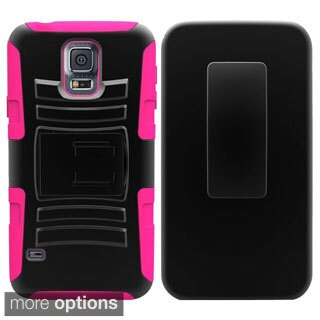 INSTEN Heavy Duty Armor Hybrid Phone Case Cover For Samsung Galaxy S5 Mini