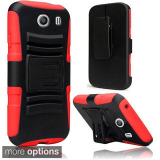 INSTEN Heavy Duty Armor Silicone Holster With Stand For Samsung Galaxy Ace Style
