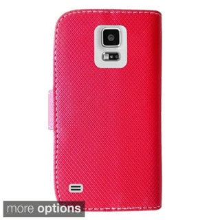 INSTEN Two Tone PU Leather Flip Wallet Cover With Cardslot For Samsung Galaxy S5