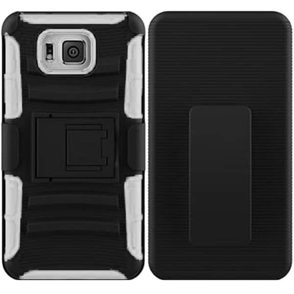 INSTEN Plain Color Heavy Duty Armor Hybrid Case Cover For Samsung S5 Alpha G850F