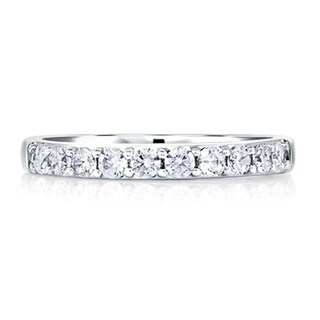 A JAFFE 18k White Gold 1/2ct TDW Diamond Wedding Band (G-H, VSSI)