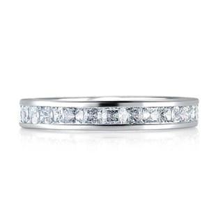 A JAFFE 18k White Gold 2ct TDW Diamond Semi Mount Engagement Ring Set (G-H, VSSI)