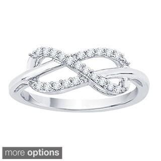 10k White Gold 1/6ct TDW Diamond Infinity Ring (J-K, I1-I2)