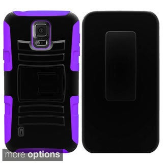 INSTEN Dual Color Side Stand Cover Case With Holster For Samsung S5 Active G870