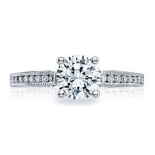 Tacori 18k White Gold 1/4ct TDW Diamond Semi Mount Engagement Ring (G-H, VSSI)