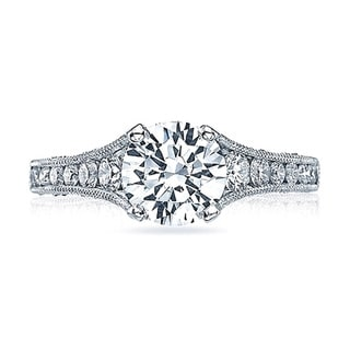 Tacori 18k White Gold 3/5ct TDW Diamond Semi Mount Engagement Ring (G-H, VSSI)