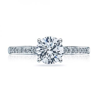Tacori 18k White Gold 1/5ct TDW Diamond Semi Mount Engagement Ring (G-H, VSSI)