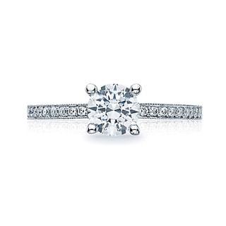 Tacori 18k White Gold 1/5ct TDW Diamond Semi Mount Engagement Ring (G-H, VSSI)