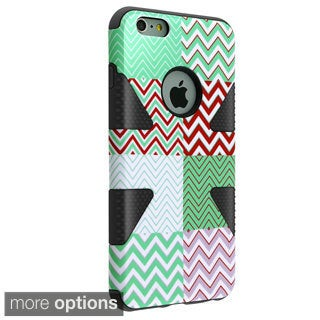 INSTEN Design Pattern Slim Silicone Hybrid Phone Case Cover For iPhone 6 Plus