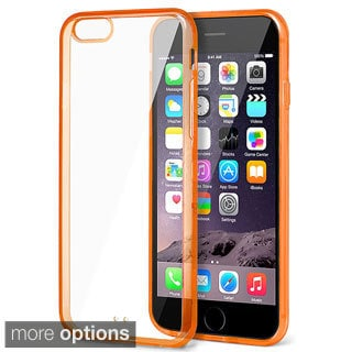 INSTEN Dual Plain Color Hybrid Phone Case Cover with Bumper For iPhone 6 Plus
