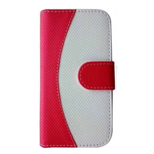 INSTEN Two Tone PU Leather Flip Wallet Credit Card Cover Case For iPhone 5/5S